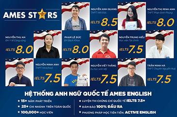 10 gương mặt học viên IELTS điểm cao của AMES ENGLISH