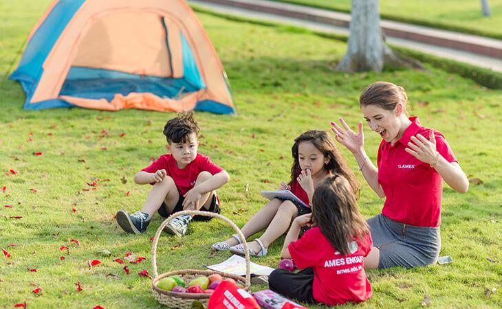 Đánh thức tài năng cho trẻ tại trại hè tiếng Anh của Ames English
