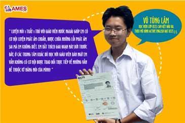Vũ Tùng Lâm- Học viên đạt IELTS 7.5 chia sẻ: