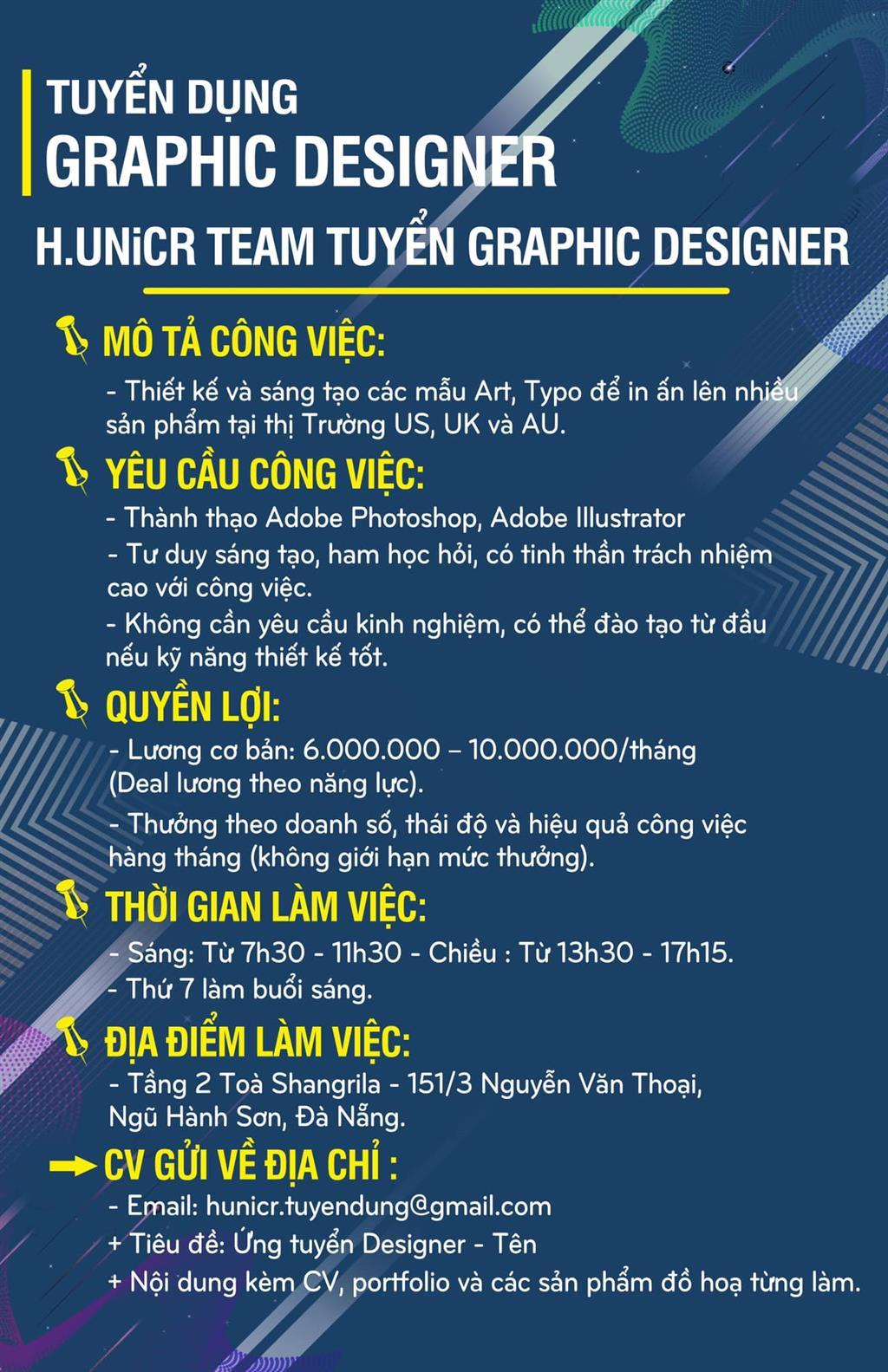 H.UNiCR Team cần tuyển Graphic Designer