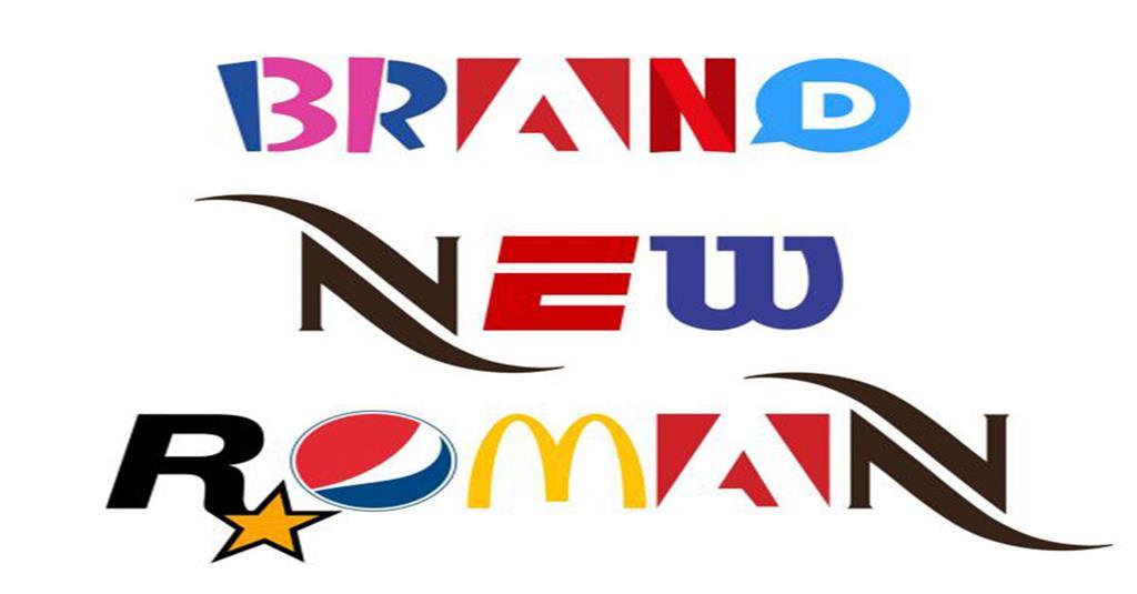 Brand New Roman - Một kiểu chữ được tạo thành từ các logo thương hiệu lớn