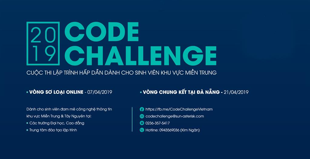 Code Challenge - Sân chơi lập trình cho sinh viên Miền Trung