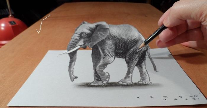 Màn đánh lừa thị giác khiến các vật thể vẽ trên giấy như thể đang chuyển động (+Video)